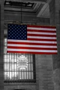 Old Glory in Grand Central Station